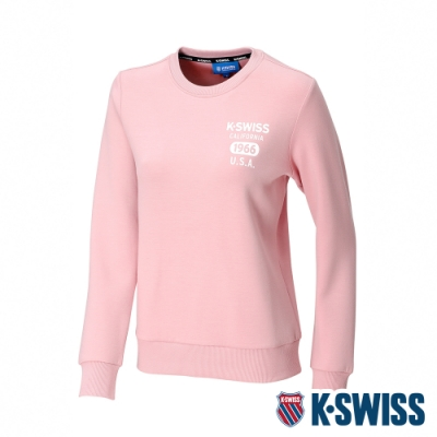 K-SWISS 1966 Sweatshirt圓領長袖上衣-女-粉紅