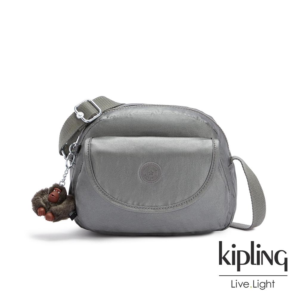 Kipling 寧靜月光灰翻蓋側背小包-STELMA