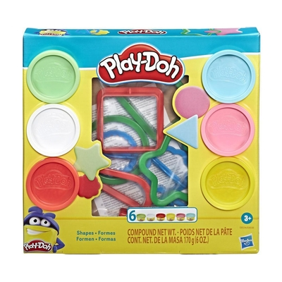 PlayDoh 培樂多 - 基礎形狀工具 6色黏土組