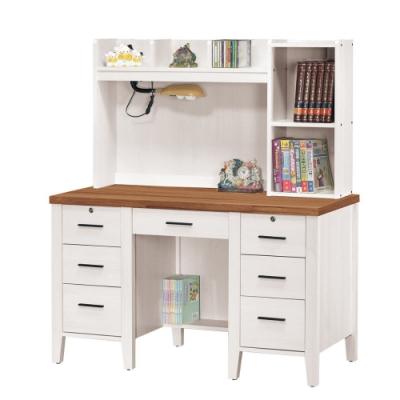 MUNA 詩肯雙色4.2尺書桌(全組) 126.5X58X147cm
