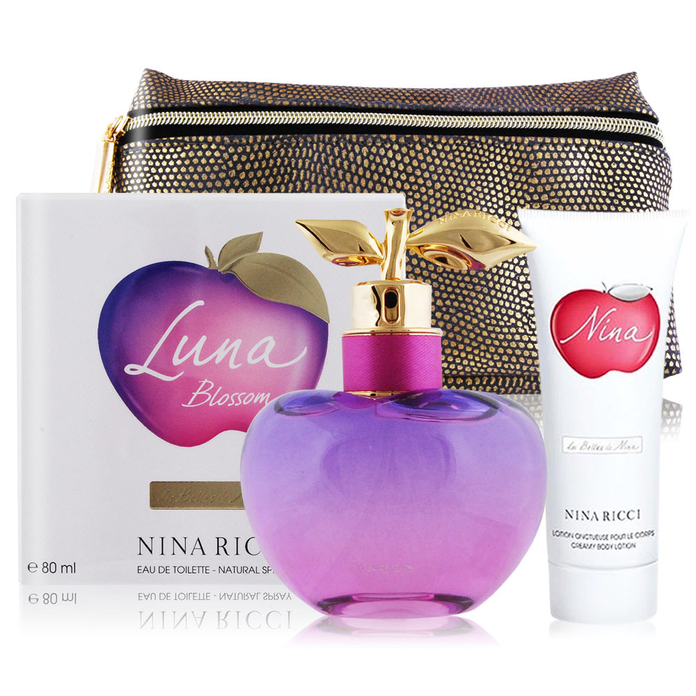 NINA RICCI 閨蜜甜心女性淡香水80ml+身體乳&化妝包 @ Y!購物