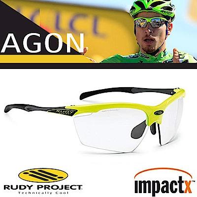 Rudy Project Agon 專業防爆變色運動眼鏡_螢光黃框+透明變色片