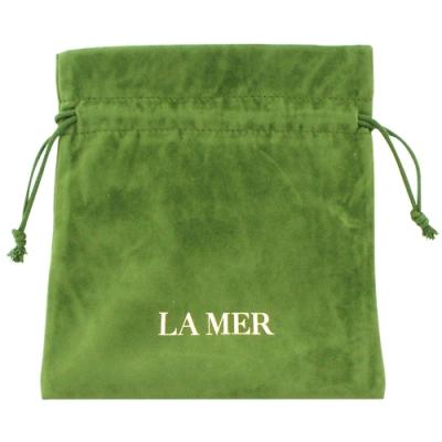 LA MER海洋拉娜 限量旅行束口袋(綠色-植絨布)