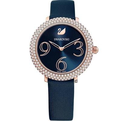 SWAROVSKI施華洛世奇 CRYSTAL FROST 璀璨時尚錶(5484061)-藍