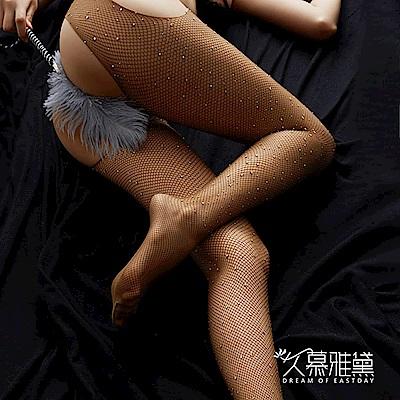 網襪款 晶耀星鑽 ‧ 鑽石閃閃四面開檔網襪。大網格。膚色  久慕雅黛