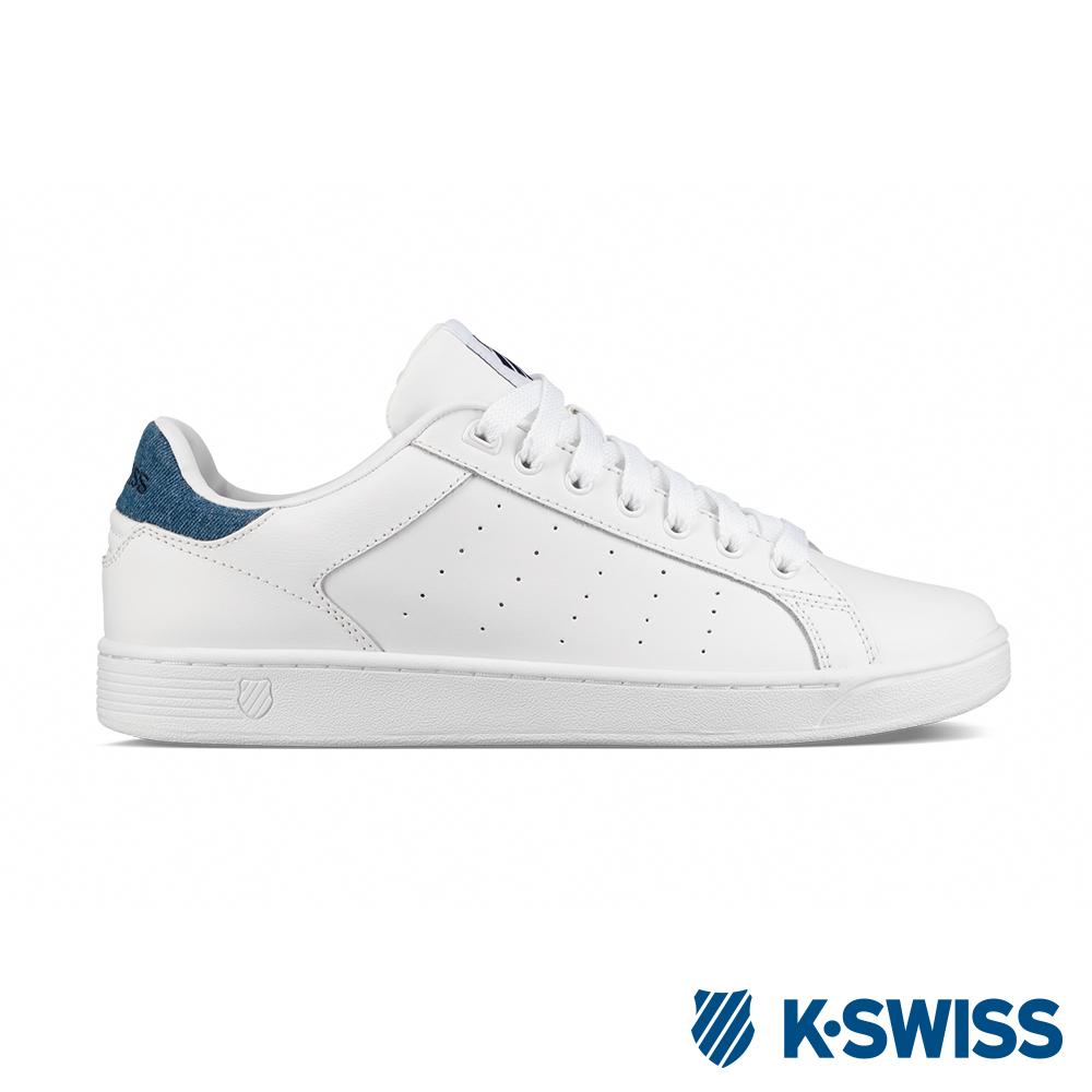 K-SWISS Clean Court CMF休閒運動鞋-男-白/丹寧