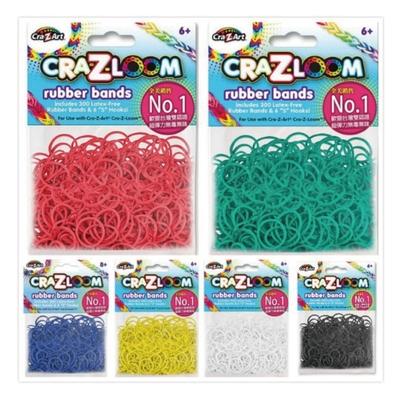 【美國Cra-Z-Art】Cra-Z-Loom 彩虹圈圈編織 橡皮筋補充包 (6入顏色隨機含特殊色1包)