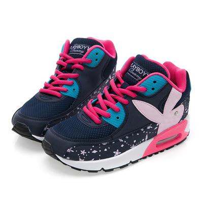 PLAYBOY悠閒步伐 耀眼星空氣墊運動鞋-藍