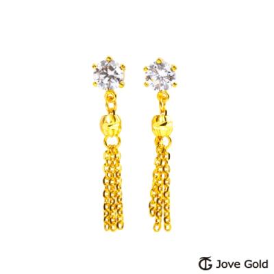 Jove Gold 漾金飾 情有獨鍾黃金耳環