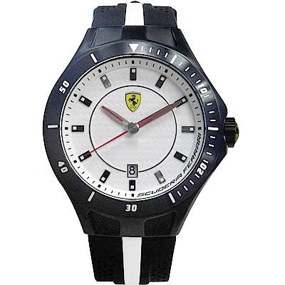 Scuderia Ferrari 法拉利 流線快感碳纖維賽車錶-黑/45mm
