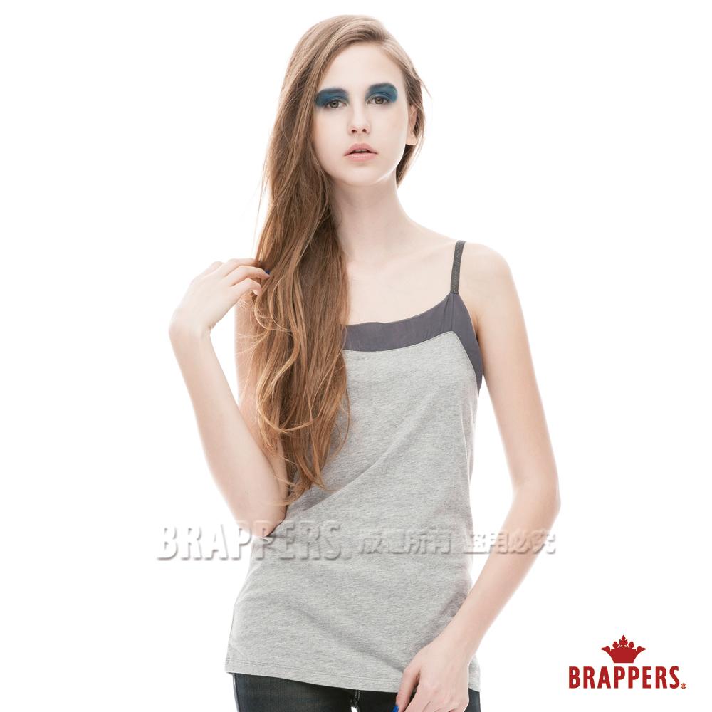 BRAPPERS 女款 配色細肩帶背心-淺灰