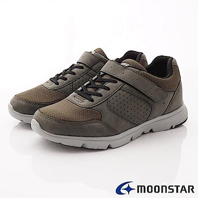 日本Moonstar戶外健走鞋-4E輕量健走鞋款-ON813卡其(男段)