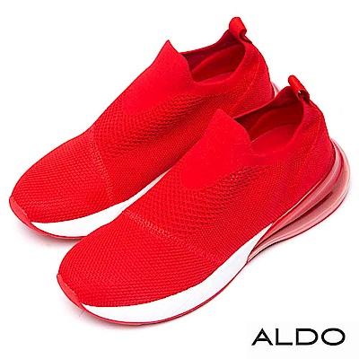 ALDO 原色舒適網布果凍氣墊厚底休閒鞋~艷麗紅色