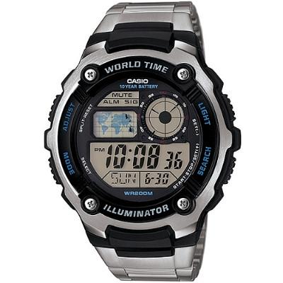 CASIO 潛戰世界先鋒運動電子錶-鋼帶(AE-2100WD-1A)/47.7mm