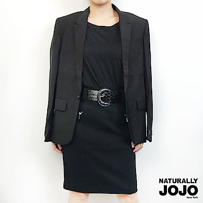 【NATURALLY JOJO】帥氣西裝外套-男(黑)