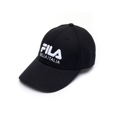 FILA 經典款六片帽-黑 HTU-1001-BK