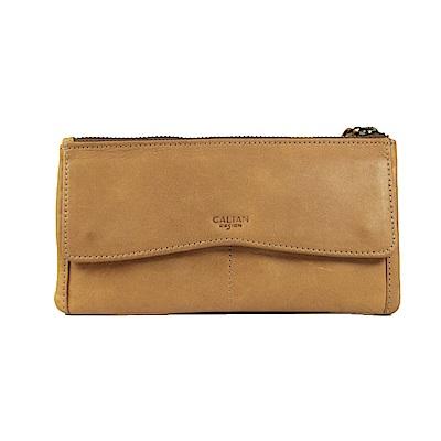 CALTAN-女長夾 拉鍊長夾 輕薄皮夾 信用卡夾 零錢袋 -2004ht