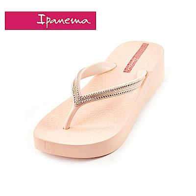 IPANEMA MESH IV PLAT系列 厚底人字拖鞋-粉色