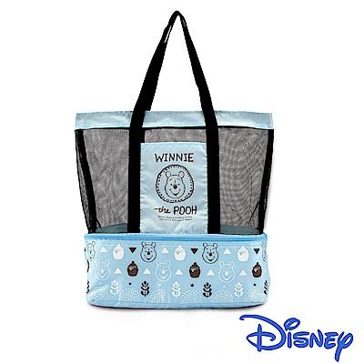 迪士尼Disney 野餐維尼肩背保冷保溫休閒袋/2色可選(快)