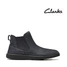 Clarks 步步清新 簡約復古細緻縫線切爾西款女靴 深灰色