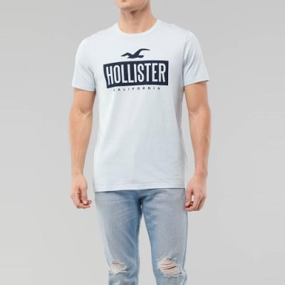 海鷗 Hollister HCO 經典印刷大海鷗文字短袖T恤-淺天藍色