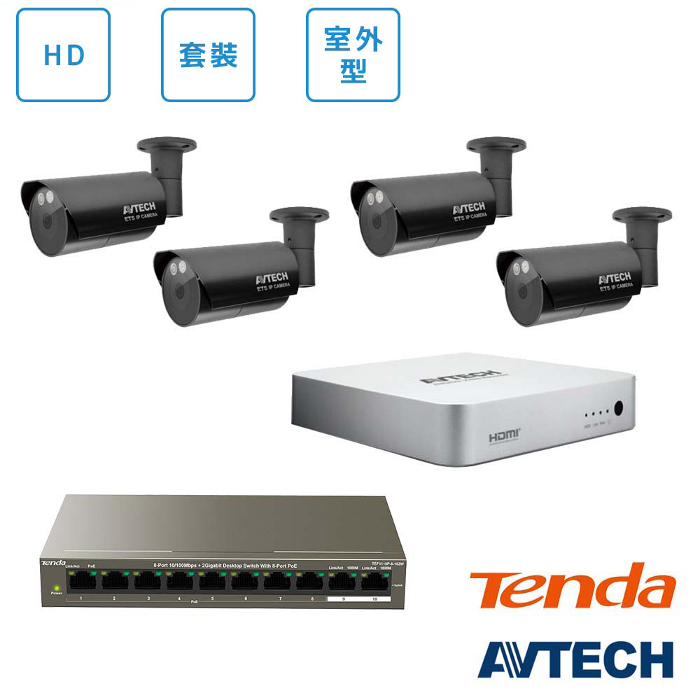 AVTECH HD全室外監控套裝方案