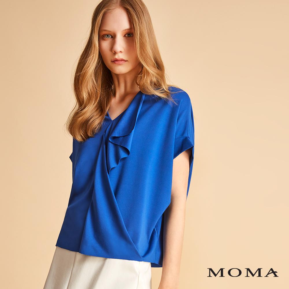 MOMA 垂墜前襟寬版上衣