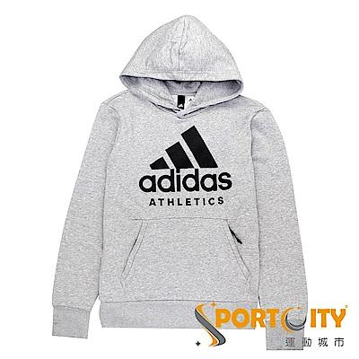 ADIDAS 男 Sport ID連帽上衣 灰 B47375