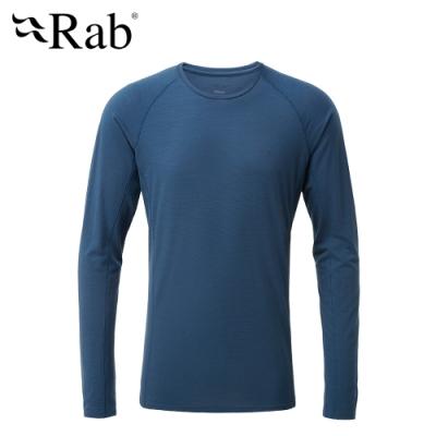 【RAB】Forge LS Tee 長袖羊毛透氣排汗衣 男款 墨藍 #QBU85