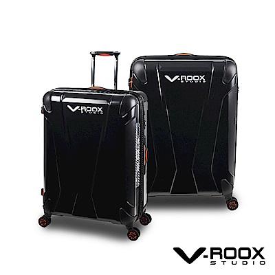 日本A.L.I V-ROOX 21吋 時尚迷彩硬殼可擴充行李箱-霧黑色