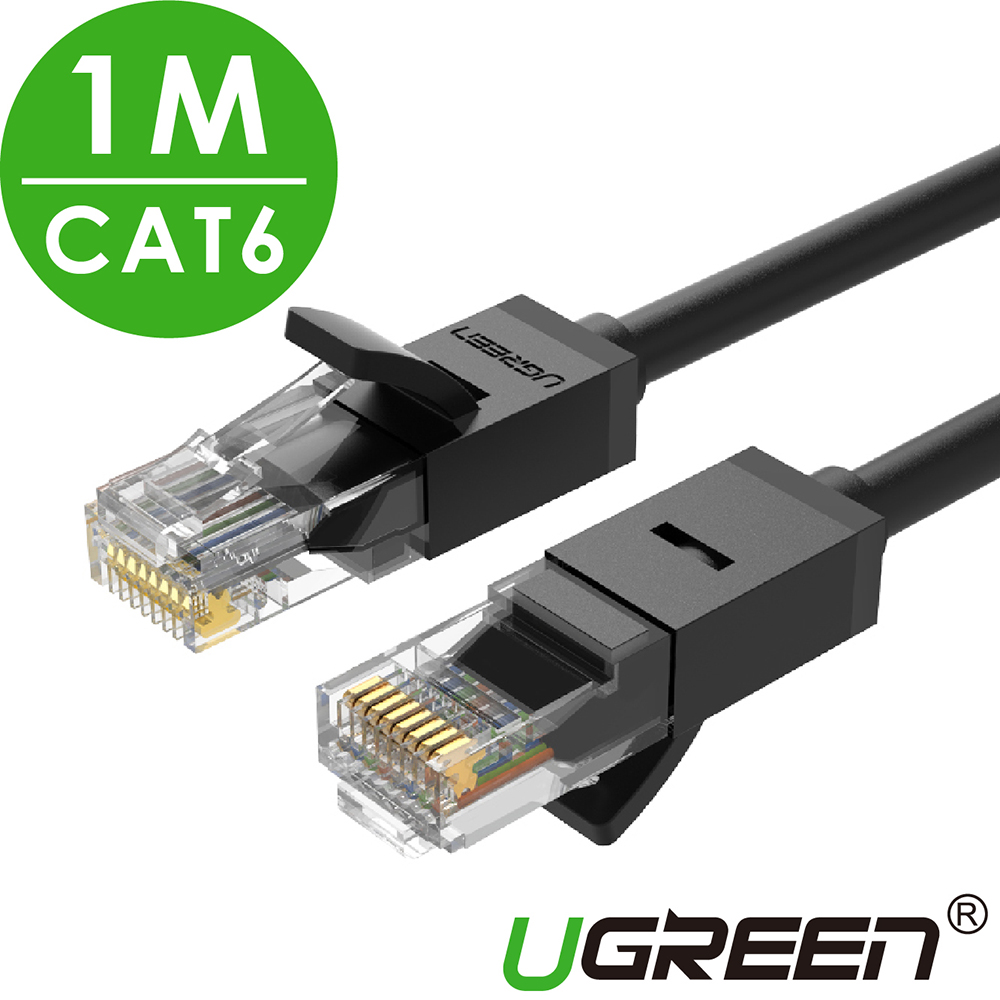 綠聯 CAT6網路線 黑色 1M