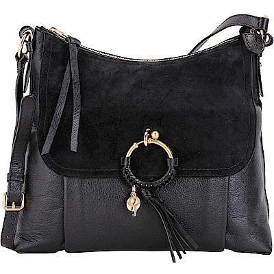 SEE BY CHLOE Joan 大款 編織金屬環拼接皮革手提肩背包 @ Y!購物