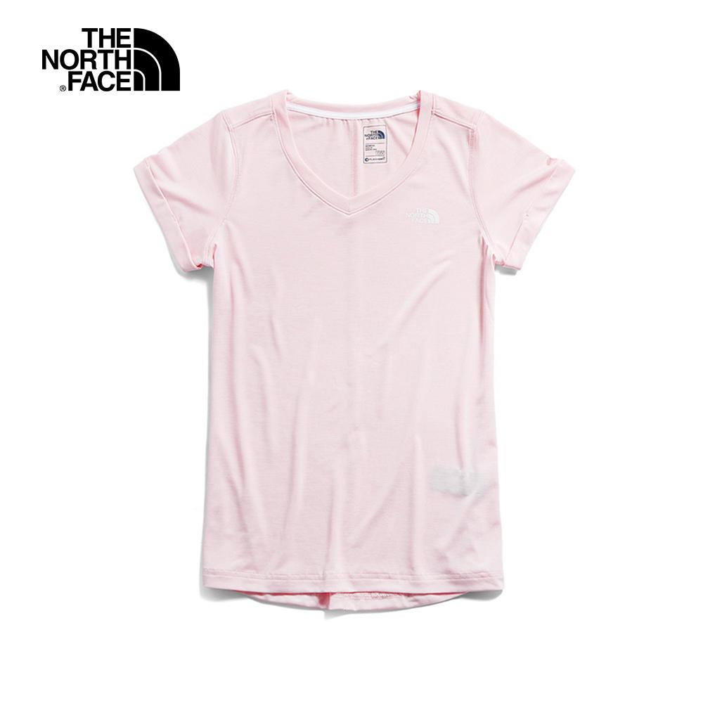 The North Face北面女款粉色透氣T恤 3RLC9FZ