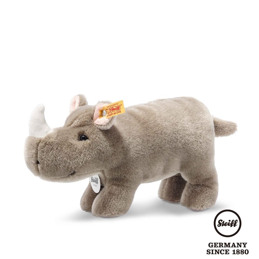 STEIFF德國金耳釦泰迪熊  犀牛寶寶 Norbert Rhinoceros  (動物王國) 24cm