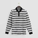 Hang Ten - 男裝 - 經典條紋POLO衫-黑色