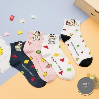 阿華有事嗎 韓國襪子 蠟筆小新睡衣立體耳朵中短襪  韓妞必備長襪 正韓百搭純棉襪