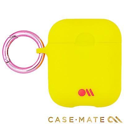 美國 CASE●MATE AirPods 炫彩保護套 - 檸檬黃色 贈掛環及磁性防丟繩
