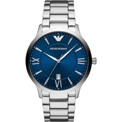 Emporio Armani 亞曼尼紳士手錶(AR11227)-藍x銀/43mm