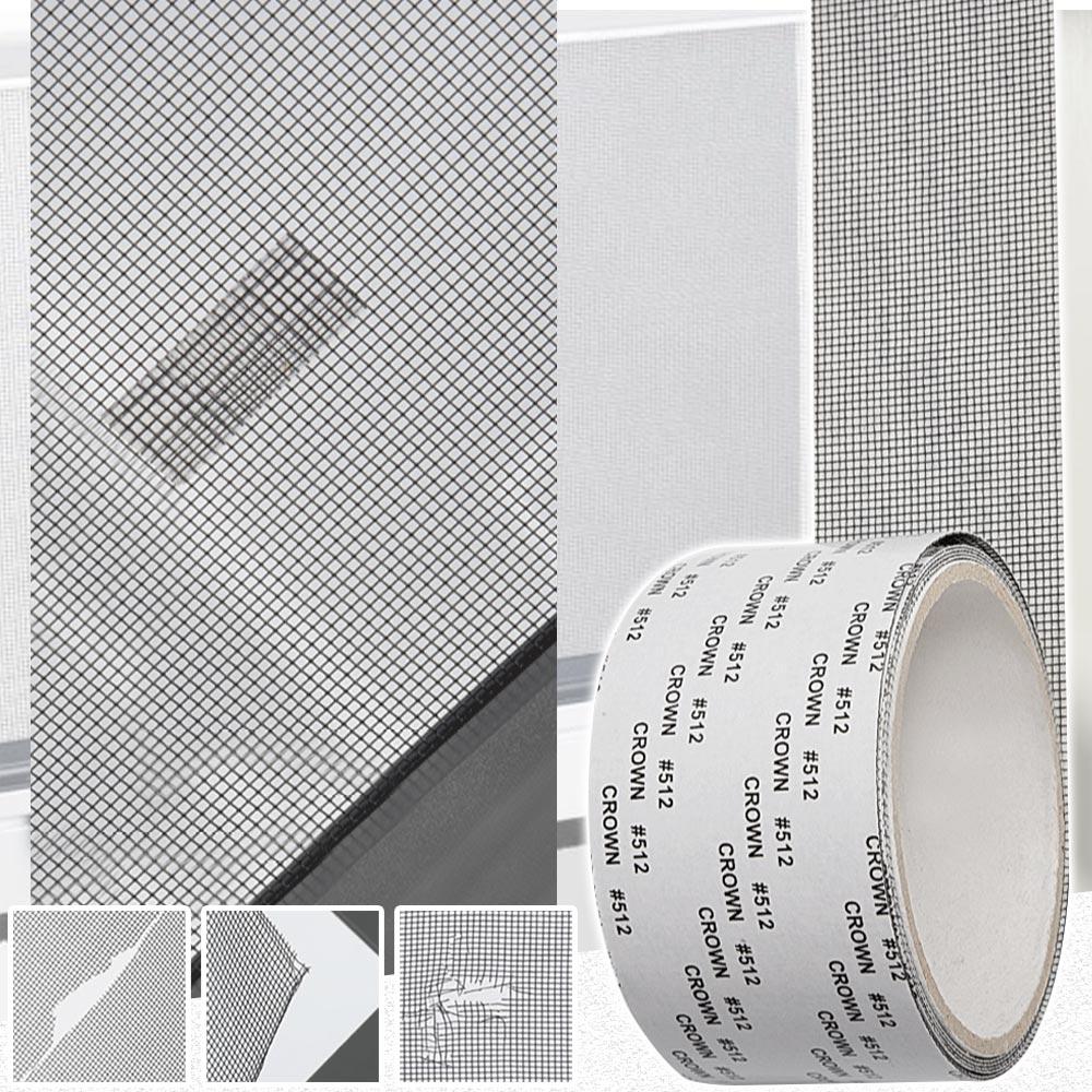(2入組)簡單牢固DIY紗窗修補貼(5*200CM) 加贈隙縫刷7支組