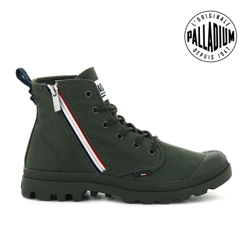 PALLADIUM PAMPA FRENCH OUTZIP法國拉鍊軍靴-中性-深綠