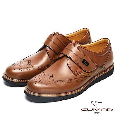 CUMAR英倫紳士 經典簡約舒適皮鞋-棕 @ Y!購物