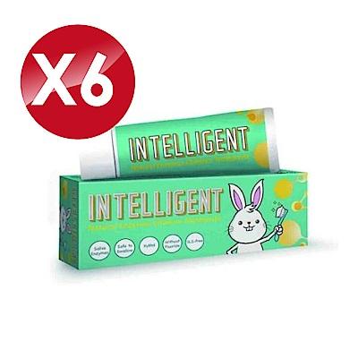 (6入組)Intelligent 因特力淨 兒童酵素牙膏 (原味) 40gX6
