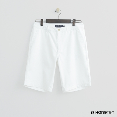 Hang Ten - 男裝 - 素色純面棉質短褲-白