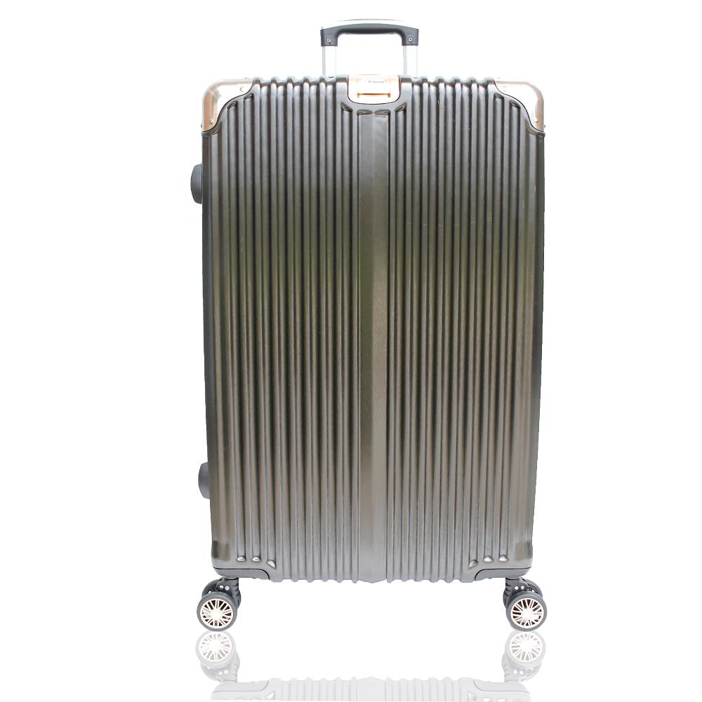 YC Eason 星光二代25吋海關鎖款PC行李箱 混色黑金