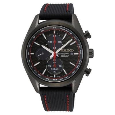 SEIKO 運動計時膠帶太陽能腕錶V176-0BH0C(SSC777P1)