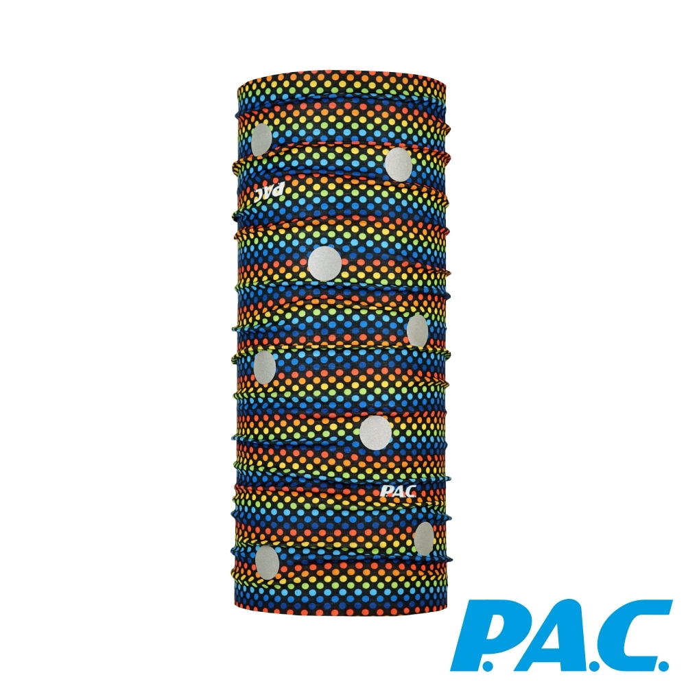 【PAC德國】兒童3M反光頭巾透氣抗菌抗臭快乾PAC8965155彩色點點