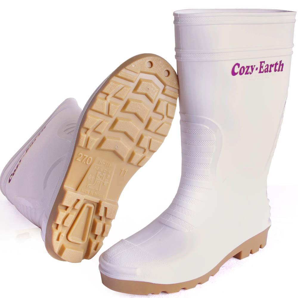 台製 雙色中筒雨鞋一雙(白色)H-111