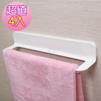 免釘免鑽無痕防水毛巾抹布架(4入)