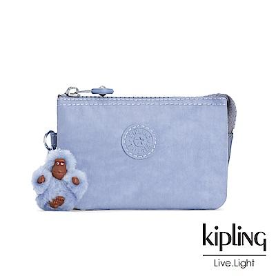 Kipling 溫柔粉藍三夾層配件包-CREATIVITY S