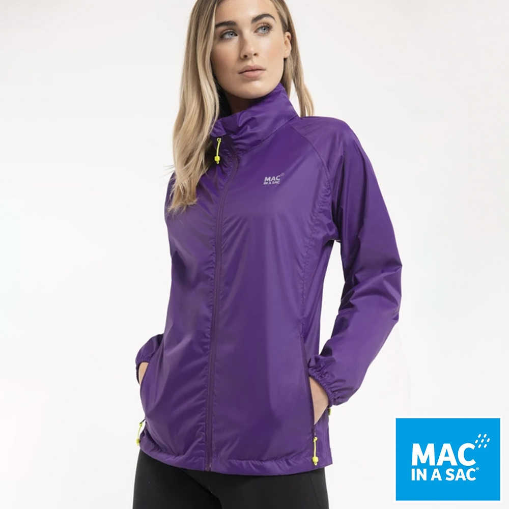 【MAC IN A SAC】男女款輕巧袋著走防水抗風透氣輕量外套MNS089紫